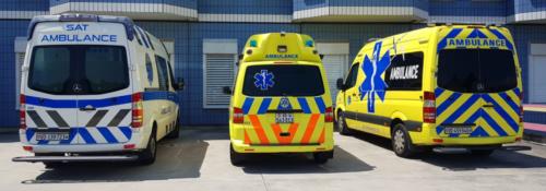 3 ambulances